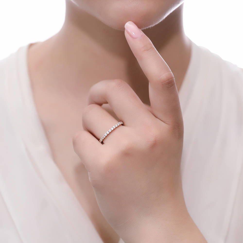 【K18ゴールド仕上】0.87カラット フルエタニティーリング(指輪)