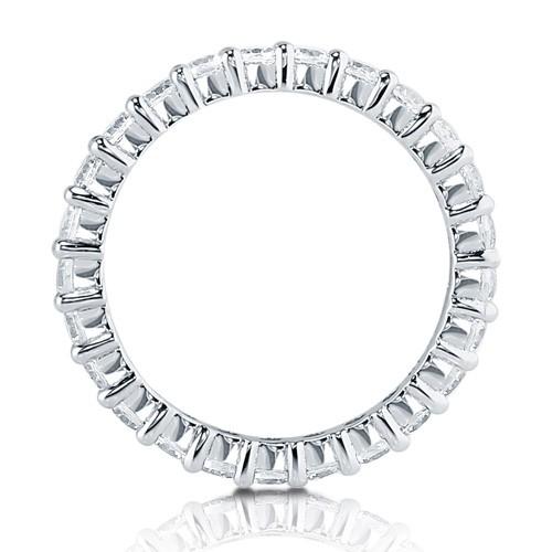 1.2カラット 最高級品質CZダイヤ(キュービックジルコニア)フルエタニティーリング(指輪)