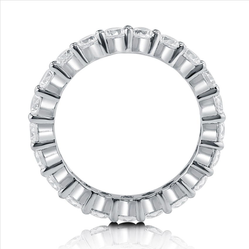 Ideal Brilliance Cut 2.2カラット フルエタニティーリング(指輪)