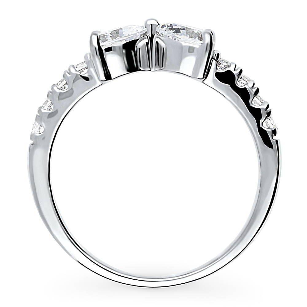 Ideal Brilliance Cut 0.96カラット リボンモチーフ リング 指輪