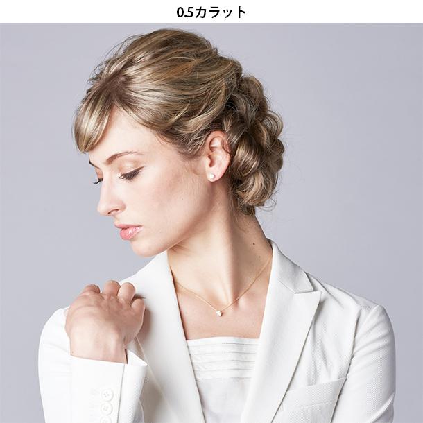 【EVER BRILLIANCE】4本爪一粒スタッドピアス