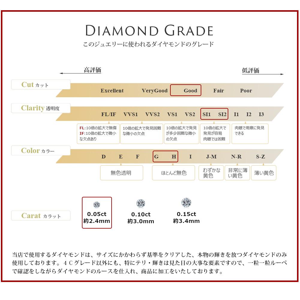 【ALLDE】K18YG ダイヤモンドピアス 0.1カラット ダイヤモンド チェーンピアス