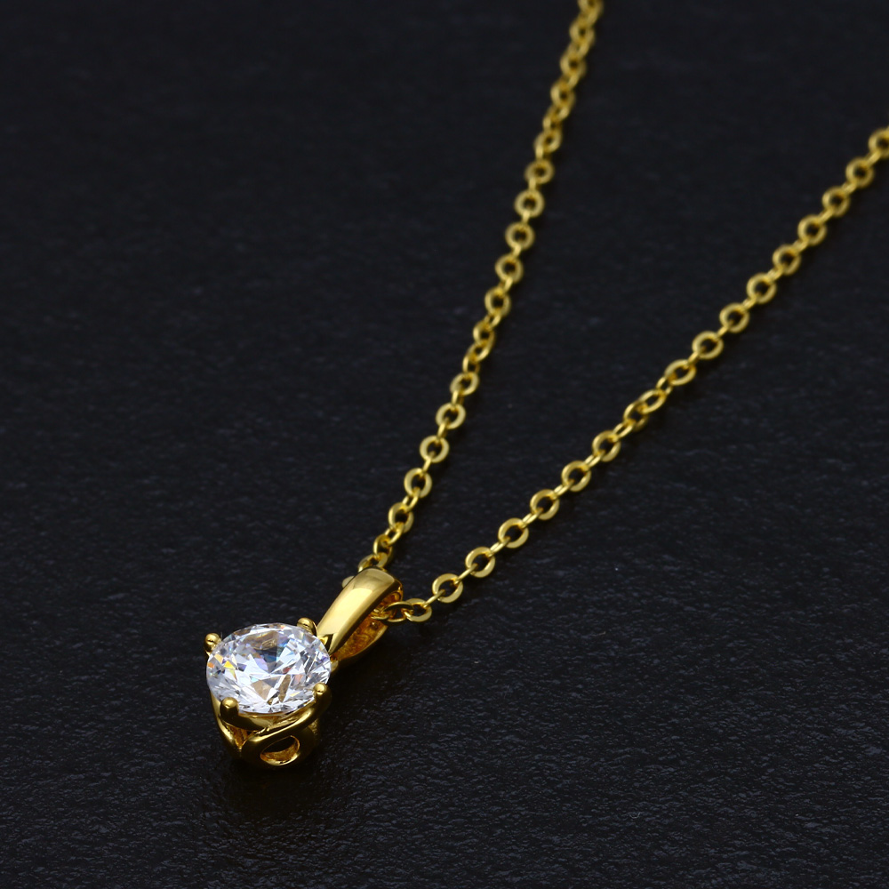 【EVER BRILLIANCE】1.25ct スワロフスキージルコニア一粒ネックレス