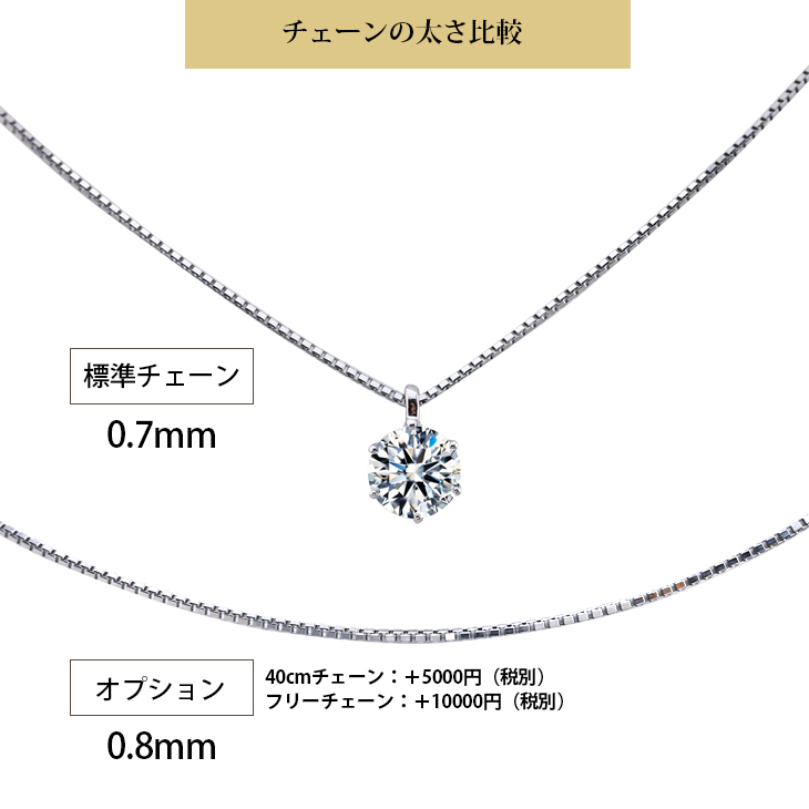 【EVER BRILLIANCE】Pt900/0.5カラット4爪ネックレス