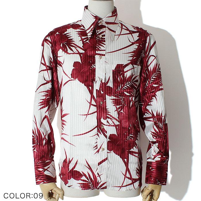 ハイビスカスドレスシャツ