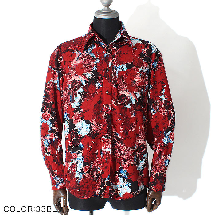 シャドウフラワードレスシャツ