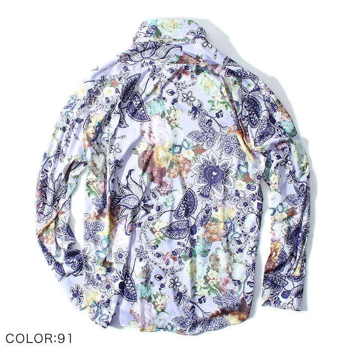 フラワーペイズリードレスシャツ