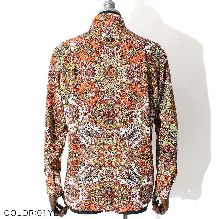 カラーペイズリードレスシャツ