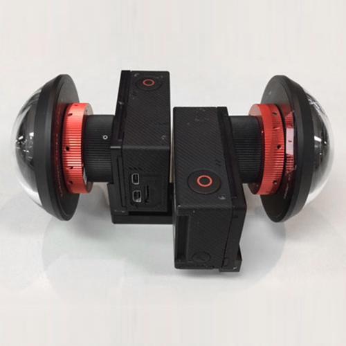改造GoProインタニヤ280度レンズ×2台セット<安心360°VR撮影セット ステッチ作業が軽減されるため簡易撮影に最適> レンタル貸出