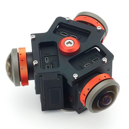 改造GoProインタニヤ250度レンズ×3台セット<安心360°VR撮影セット 6K/30fps〜4K/60fpsの360°撮影が可能> レンタル貸出