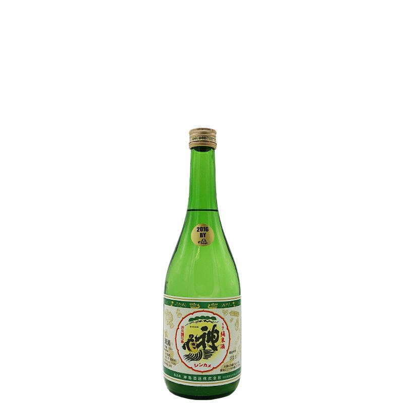 神亀 甘口 純米酒(グリーンラベル)2016BY (720ml)  ※1800mlタイプと醸造年度が違います。★蔵元も晩酌酒に使用!★