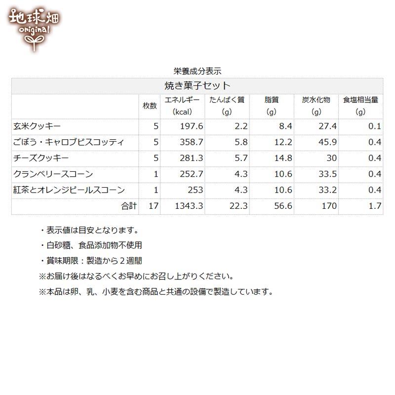 地球畑カフェ 焼き菓子セット
