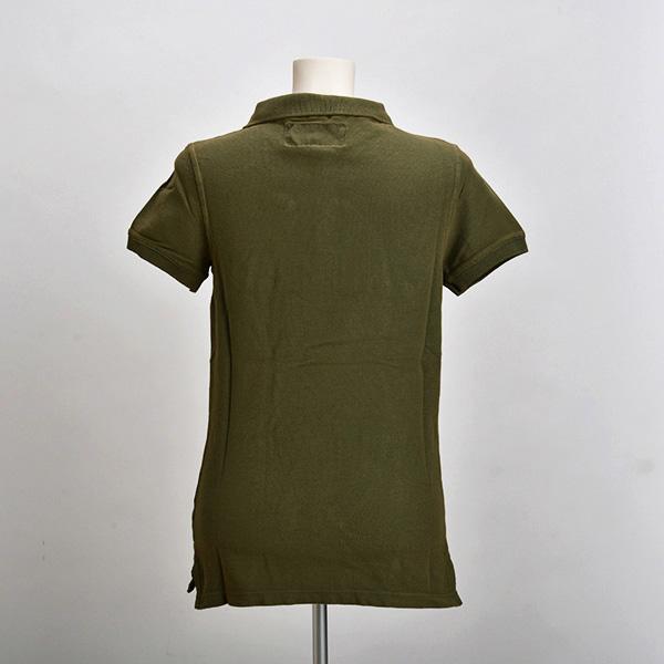 ポロシャツ(ダークグリーン)(レディース)(Sサイズ)