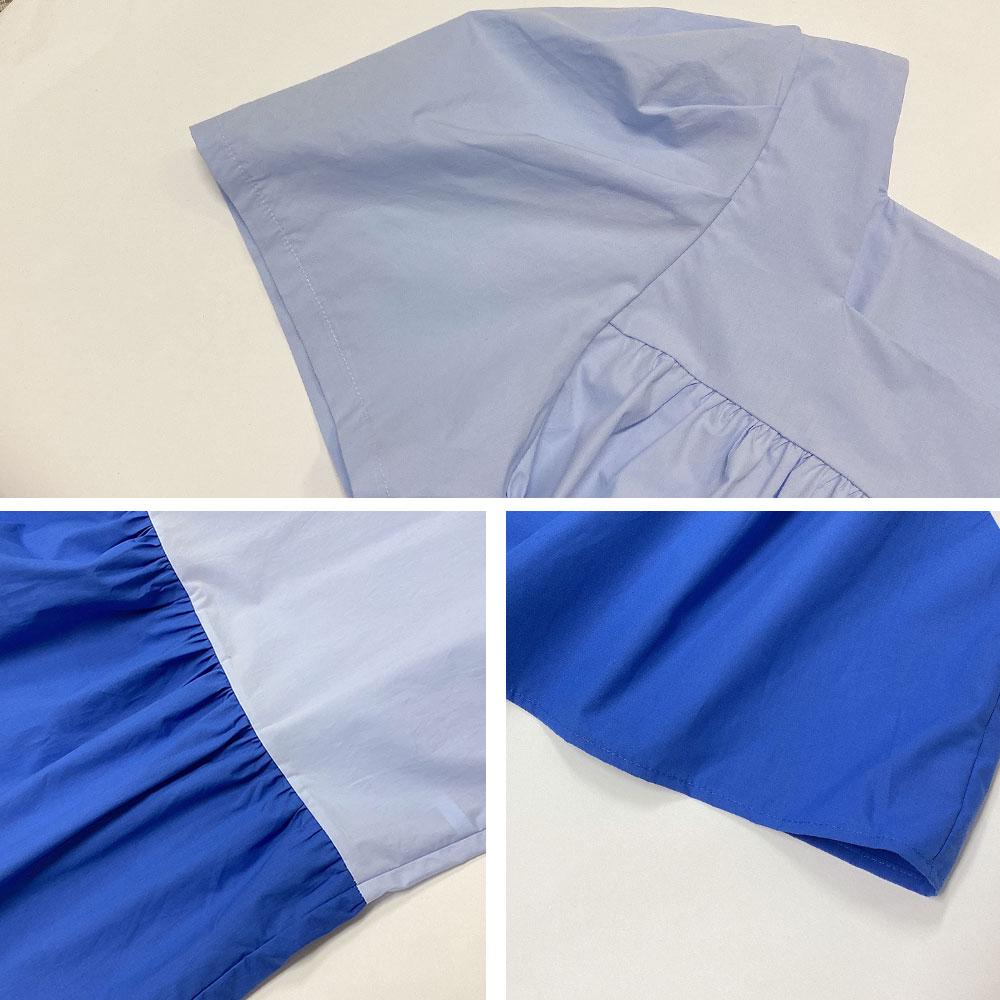 ボリューム袖ゆるフレアワンピース全2色