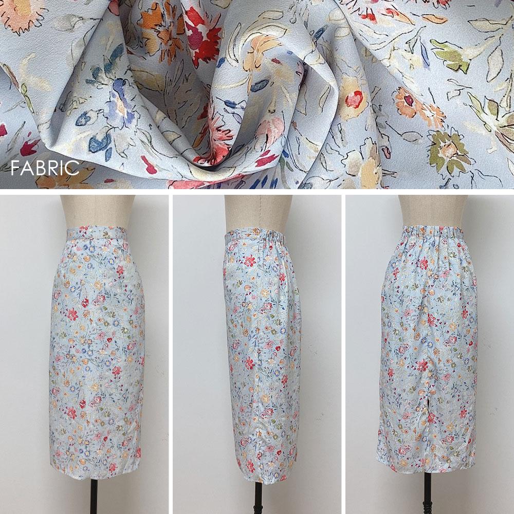 フローラルスリットスカート全2色