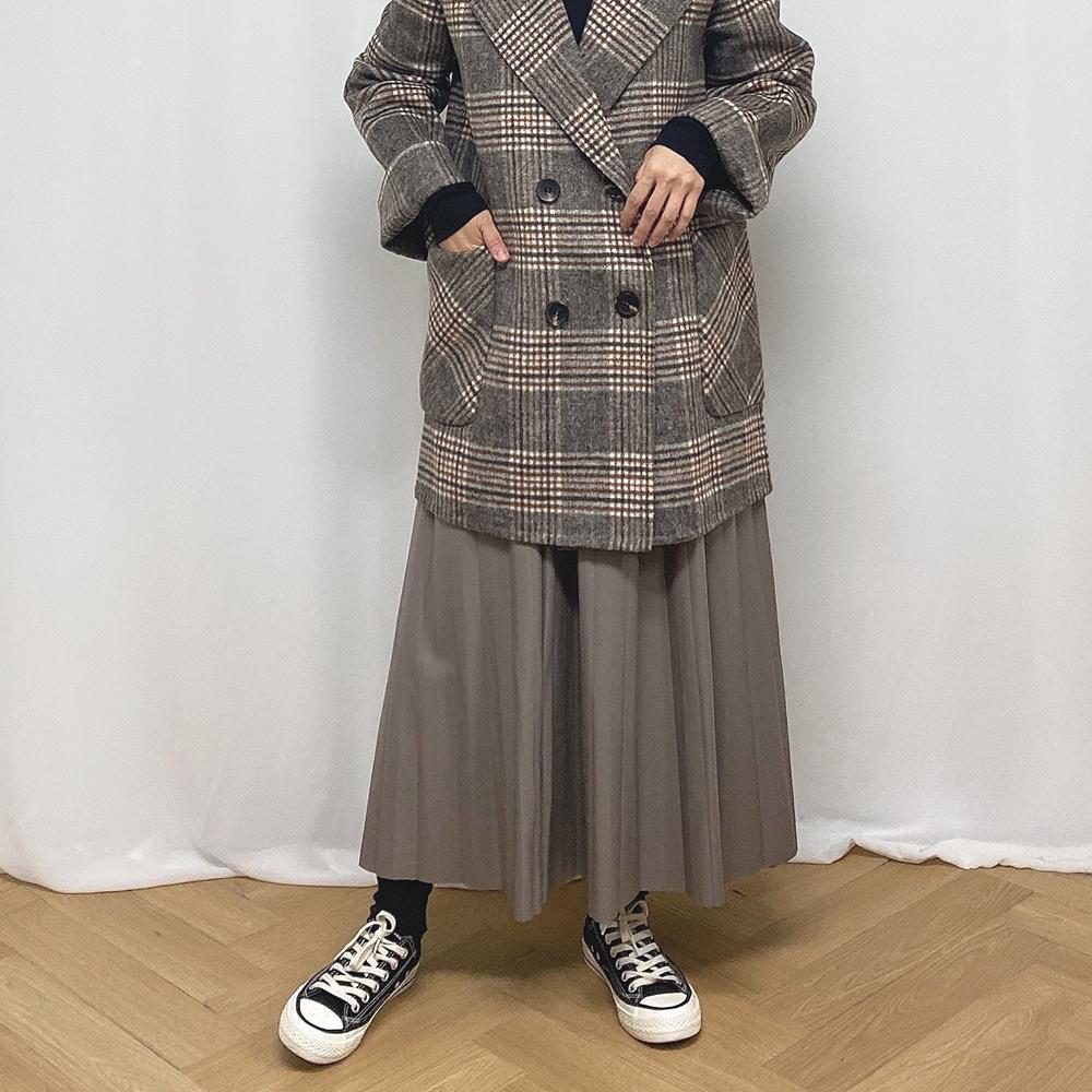 エコレザープリーツスカート全2色