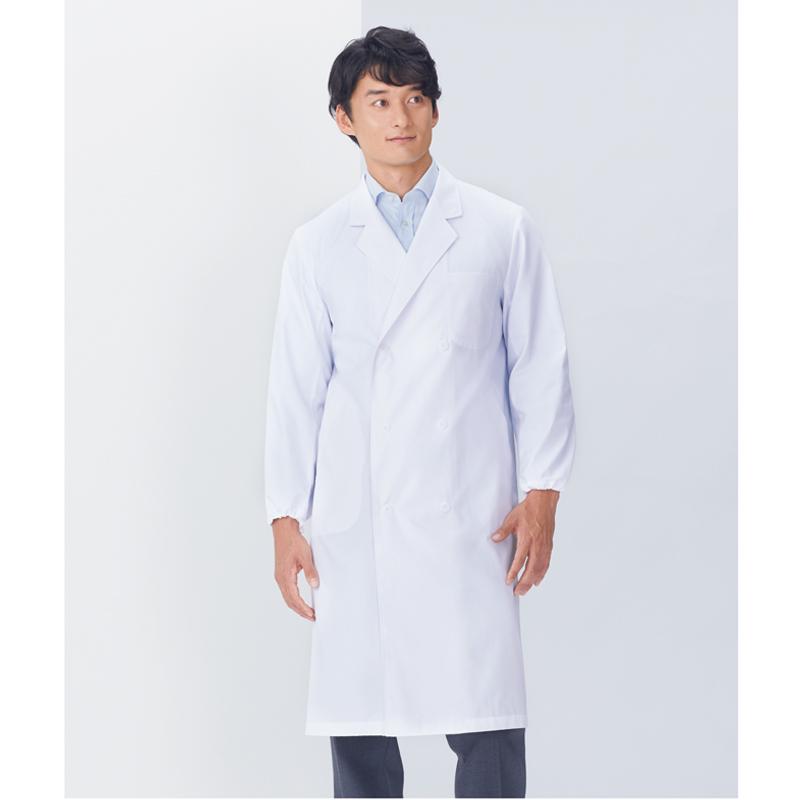 115-3 メンズ診察衣W型長袖