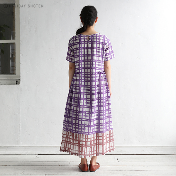 【SALE】70%OFF ワンピース コンビチェック