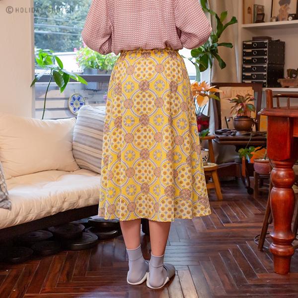 スカート フラワータイル