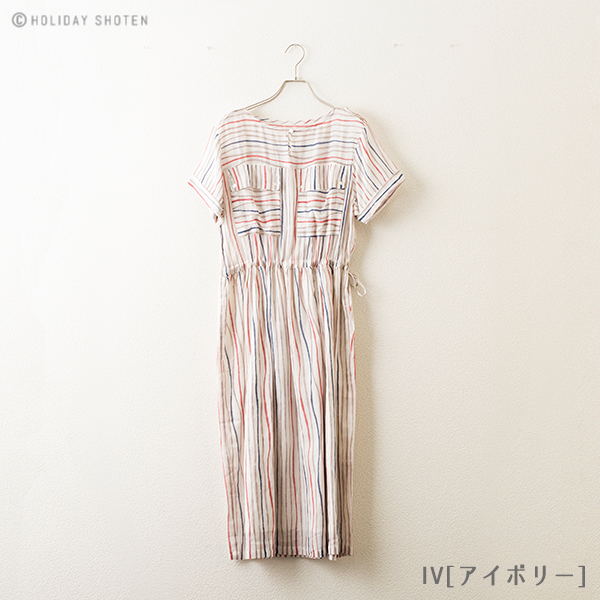 【40%OFF】 ワンピース ウェーブストライプ