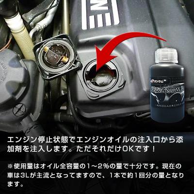 激カンタム『オイル添加剤』マグナムブラック 走り激変!燃費向上・静電気除去・パワーアップ・メンテナンスグッズ!