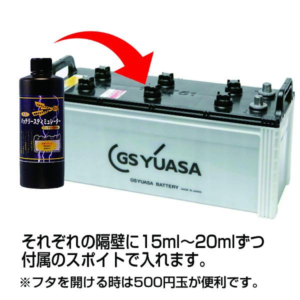 激カンタム 『バッテリー 刺激剤』バッテリースティミュレーター バッテリー長持ち!エンジン始動性アップ・燃費向上・トルクアップ・メンテナンスグッズ!