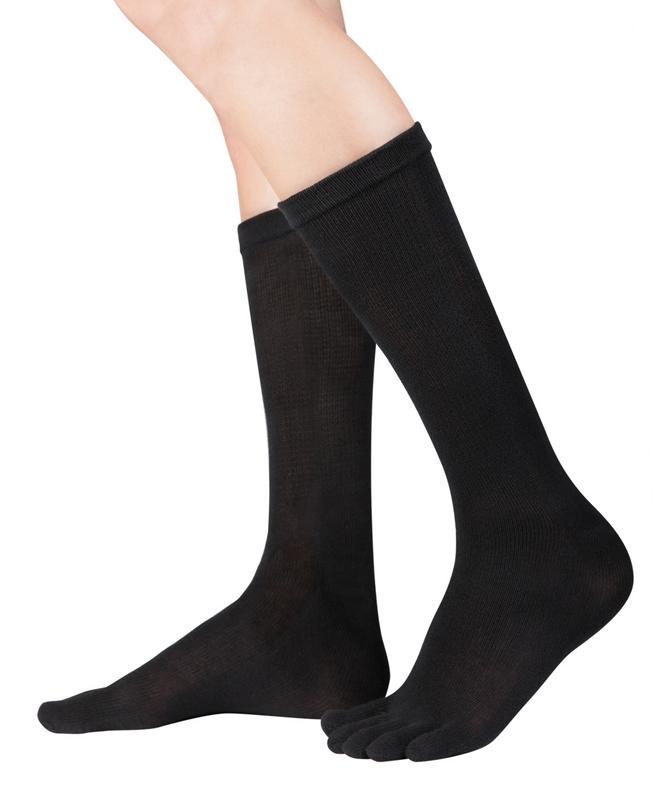 【EU7001】ドクターフット抗菌銀糸使用5本指ソックスクルー丈:Knitido Dr.Foot Silver Protect Wadenlang