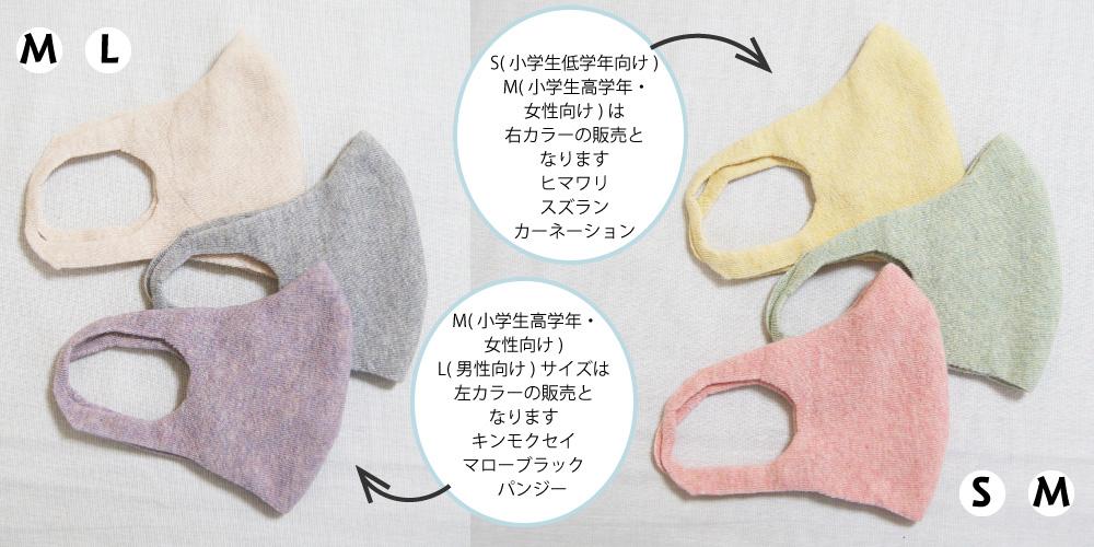 510029 ボタニカルダイ やさしくつつみマスク オーガニックコットン S・M・L 日本製 キッズ 婦人 紳士