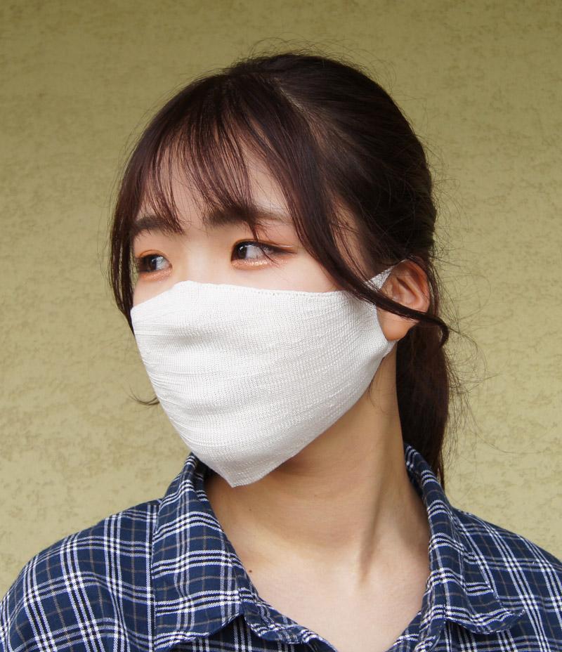 【520049】超薄地 シルク100%マスク おやすみ用 インナー用 ニット 絹 フリー 日本製 婦人 紳士