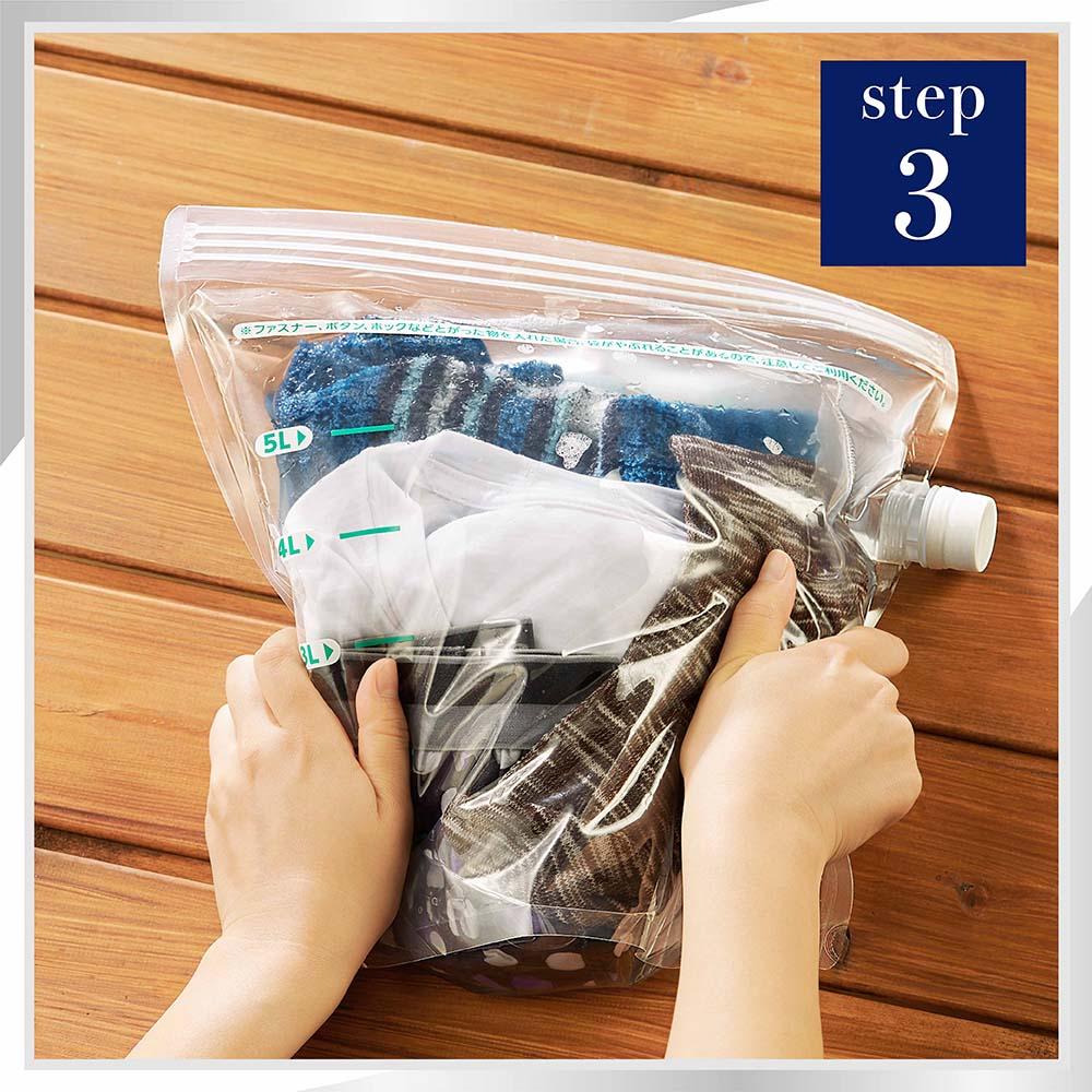 (製品箱)アタック どこでも袋でお洗たく 5L 1箱(20個)