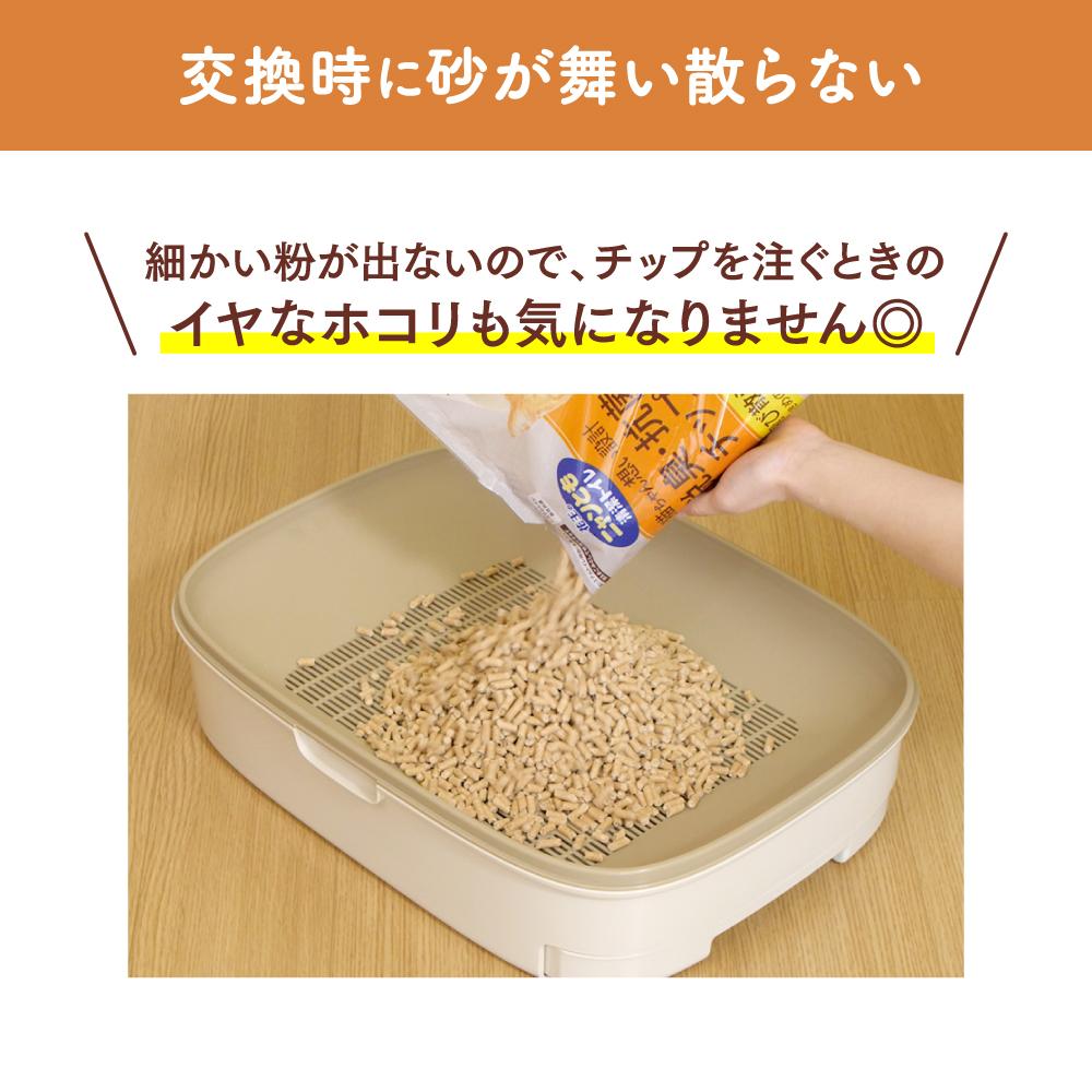 (製品箱)ニャンとも清潔トイレ脱臭・抗菌チップ 小さめの粒 [4.4L] 1箱(4個パック)