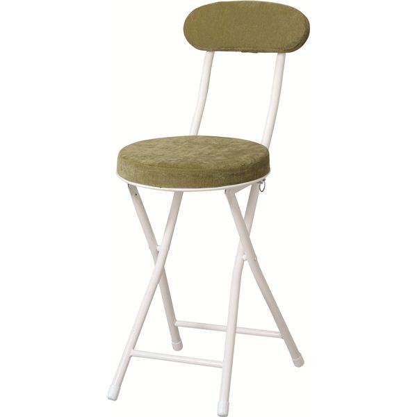 折りたたみ椅子(ロンダチェア) スチール PC-32GR グリーン(緑)