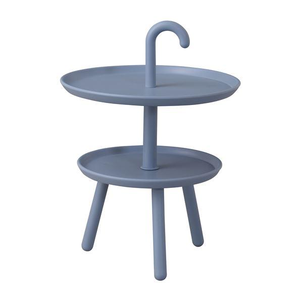 サイドテーブル/ミニテーブル 【ブルー】 円形 直径42×高さ55cm 脚付き ポリプロピレン Kukka 『クッカ』 【組立品】