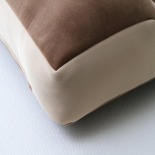 2連 座布団/椅子クッション 【無地 ネイビー 約42×42cm】 折りたたみ式 中材:ウレタン オールシーズン 〔リビング オフィス〕