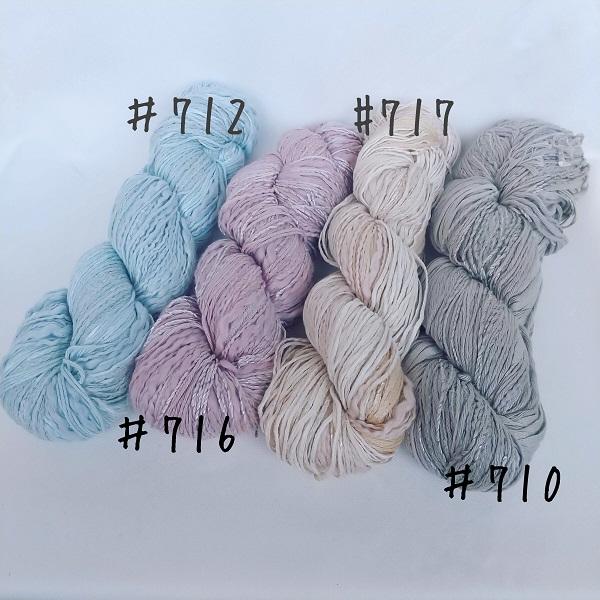 ジャンボ針で編むボートネックのプルオーバー #712 見本色(毛糸だま 2020年夏号 No.186)