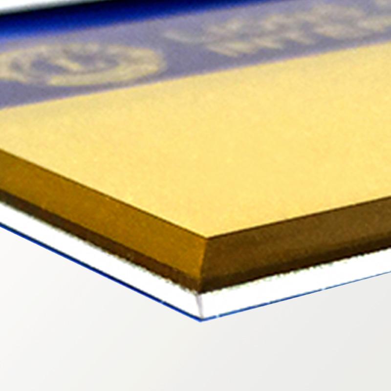 ランチョンバッジ(例会名札)彫刻式・紺金