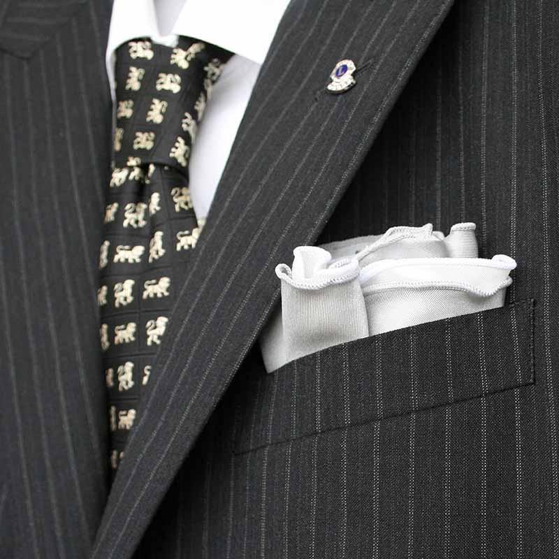 ポケットチーフ「丸型」両面仕立て