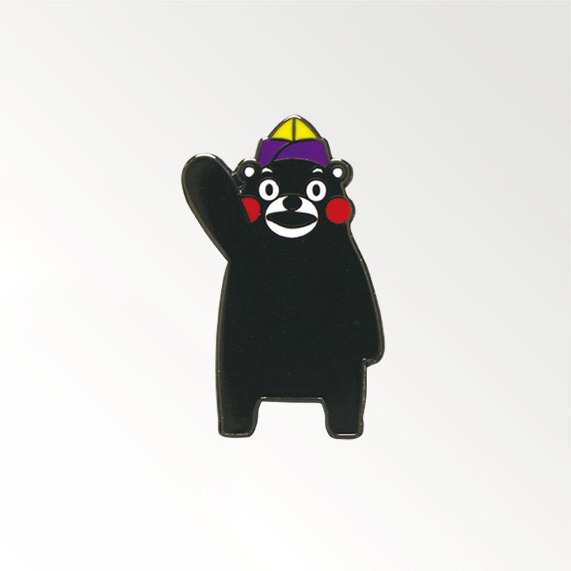 ピンバッジ「くまモン/ライオン帽」