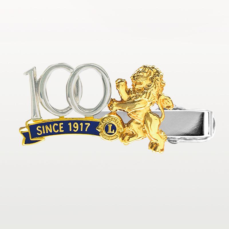 クリップピン「100周年/獅子」銀