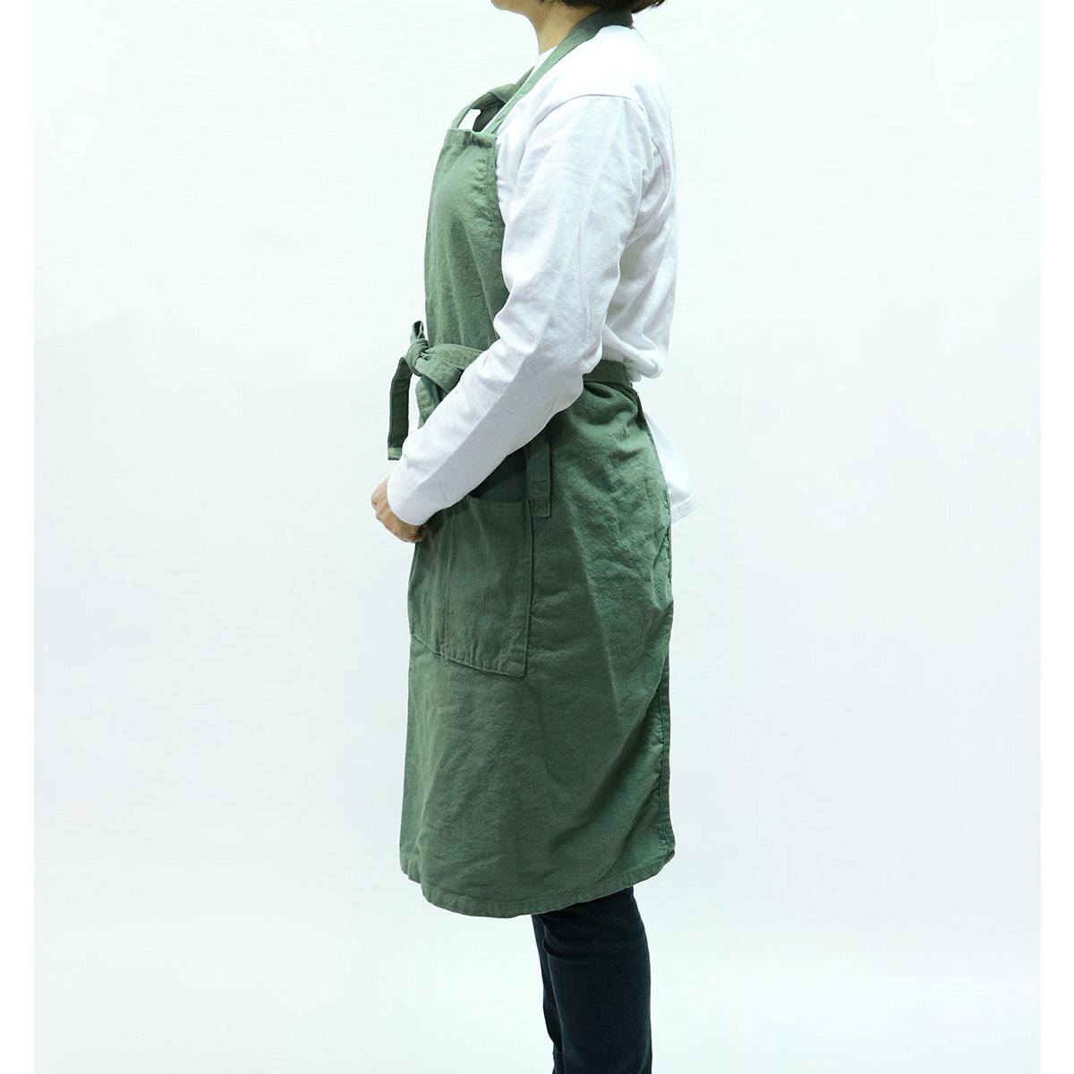 【MAKEUP】倉敷帆布 製品染め エプロン 8カラー