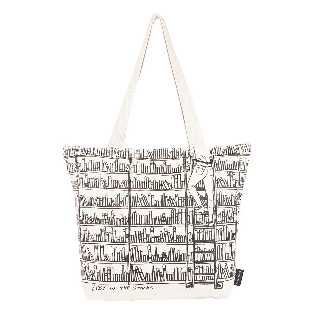 【STRANDBOOKSTORE】Large Tote Lost in the Stacks ラージトートバッグ (WHITE) 9111116803