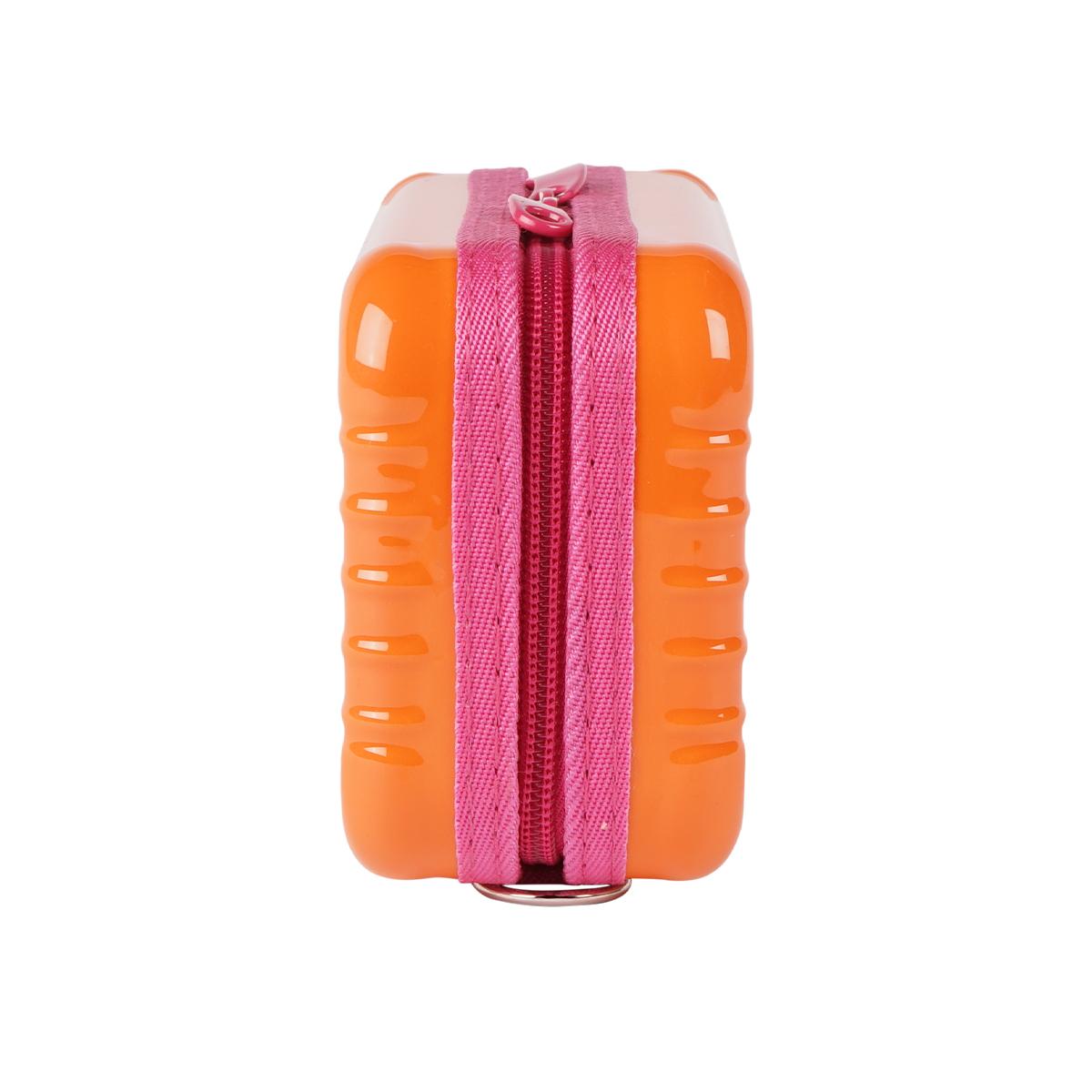 3WAYバイカラーミニトランクポーチ (ORANGE×PINK) LA19010002