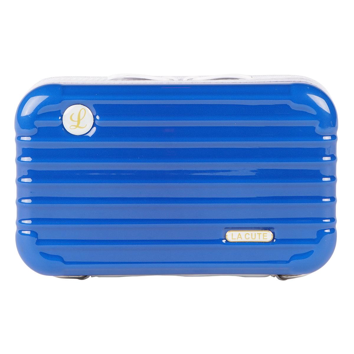 3WAYバイカラーミニトランクポーチ (BLUE×WHITE) LA19010002