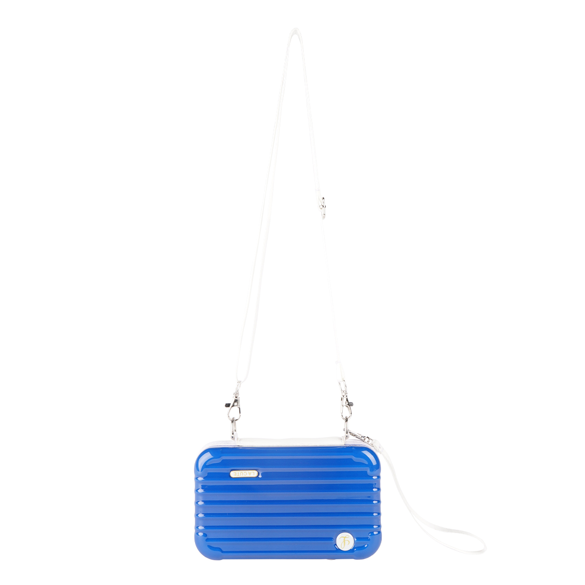 3WAYバイカラーミニトランクポーチ (BLUE×WHITE)