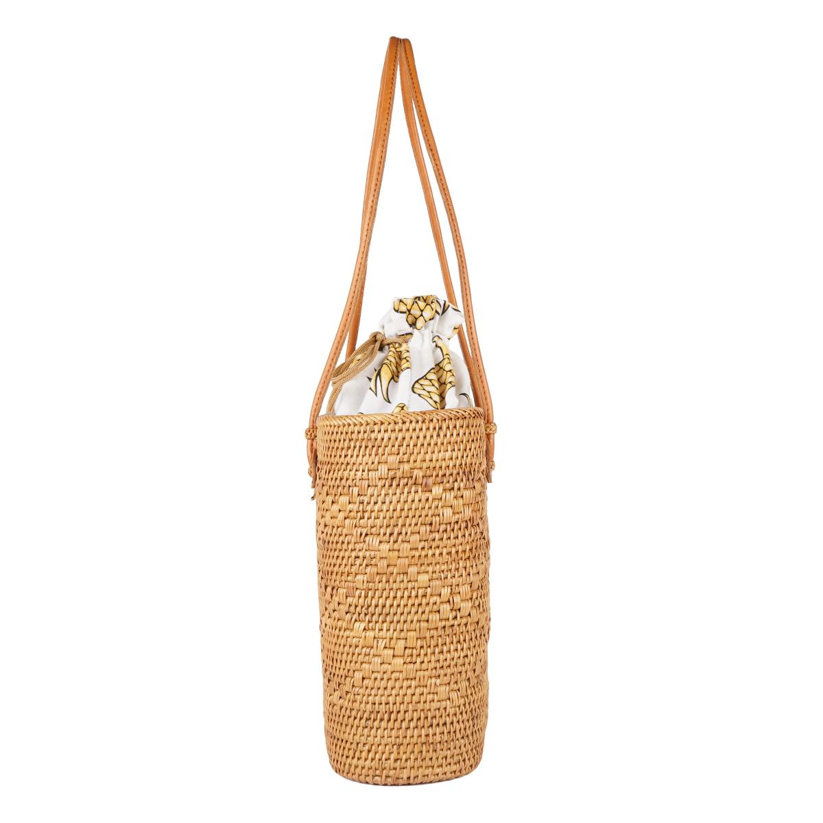 【ATA BAG】La Cute オリジナルテキスタイル かごトートバッグL (パイナップル) LAAT004