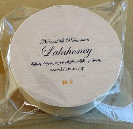 LALA HONEY 柚子石けん 80g (木製わっぱ入・泡立てネット付)