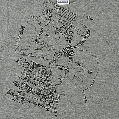 長島有里枝 子供用Tシャツ [オールスター(杢グレー)]