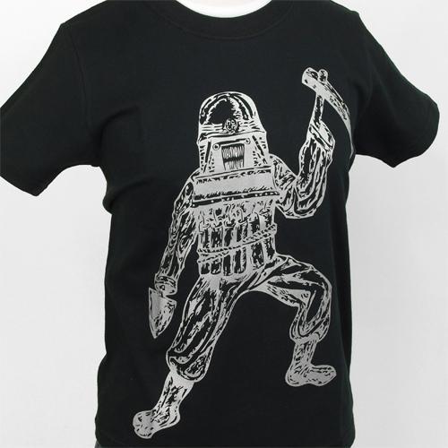 風間サチコ Tシャツ [ドボッケン(黒×銀)]
