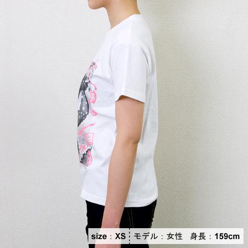 草間彌生  Tシャツ [わたし大好きA(フォト×ホワイト×ピンク)]