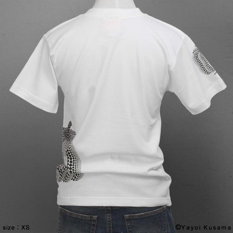 草間彌生  Tシャツ [かぼちゃサイドプリント(白)]